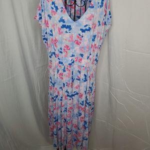 Joules v neck knit dress